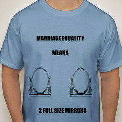 MARRIAGE EQUALITY MEANS ...2 FULL SIZE MIRRORS