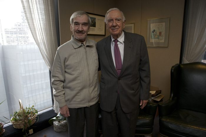 Stanislav visits with legendary anchorman, Walter Cronkite.