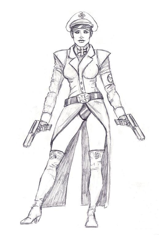 Nazi Girl Sergent