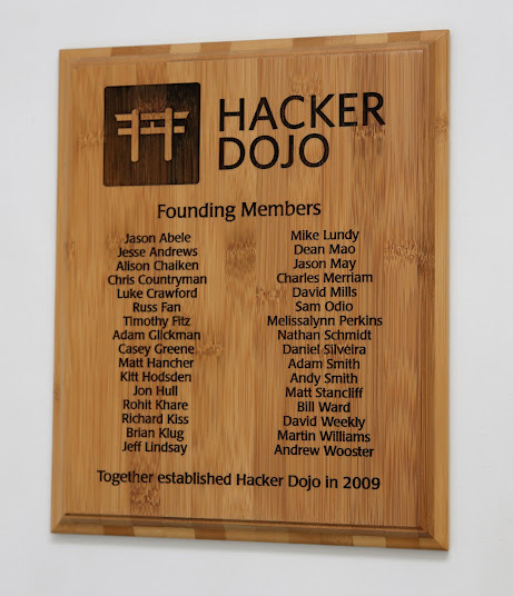 The plaque of contributors will be modeled after the plaque of the founding members, and hang alongside it.