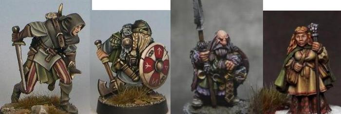 Elf Ranger, Dwarf Fighter, Dwarf Cleric, Dwarf Mage