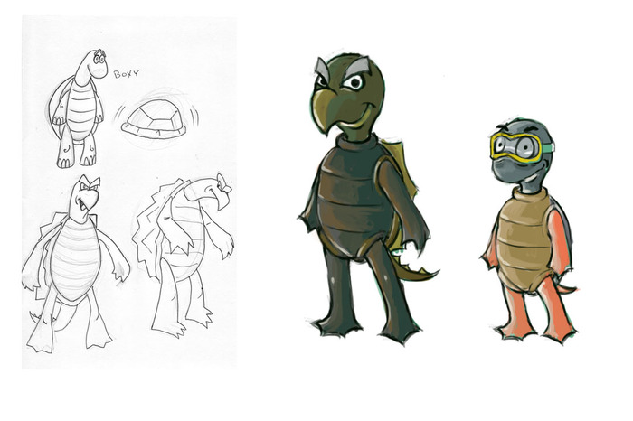 Concept artwork of Snap and Skippy