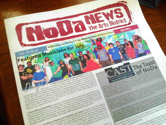 Check us out on the cover of NoDa's own Newspaper!