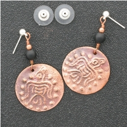 Stone earring example