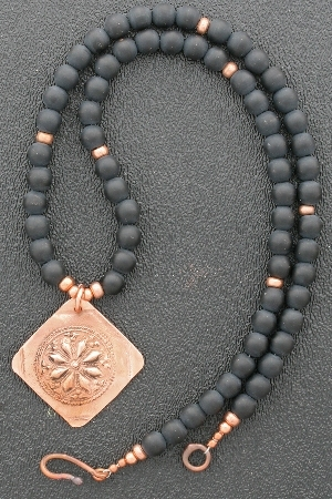 Matte Onyx beaded necklace example
