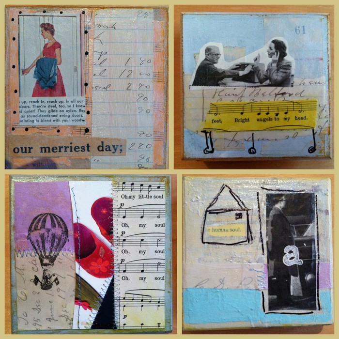 examples of some of my mixed media collage work! one of the rewards at the $100 level!