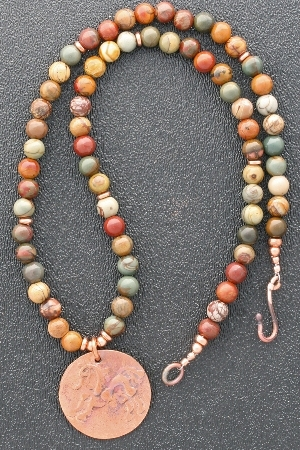 Red Creek Jasper beaded necklace example