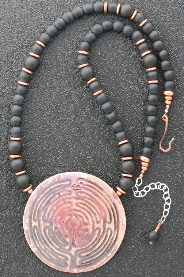 Labyrinth Statement Necklace