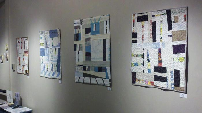Some examples of my improvisational art quilts.  If you're a backer at the $1500, I'll make one of these for you. Only you'll get to pick out some of the fabrics, and it will be big enough to snuggle under!