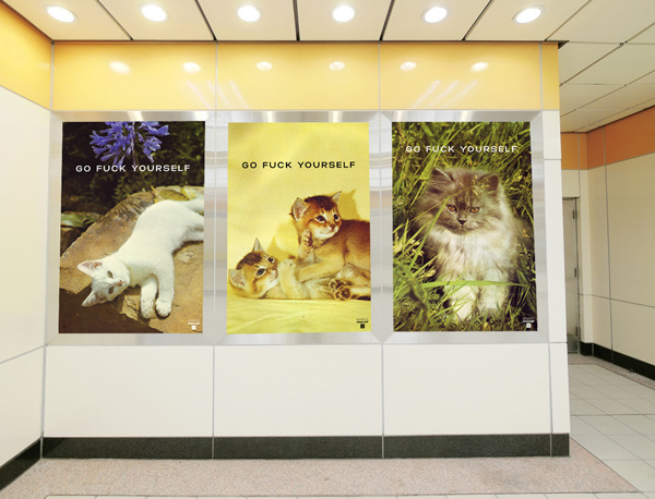 Hilarious cat posters that will be used in the film as well as rewards for donations.