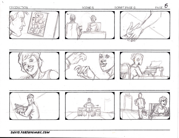 Example storyboard from the opening scene.
