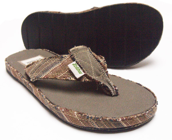 Tribu Upcycled Vegan Hemp Brown available in mens US sizes 8, 9, 10, 11, 12
