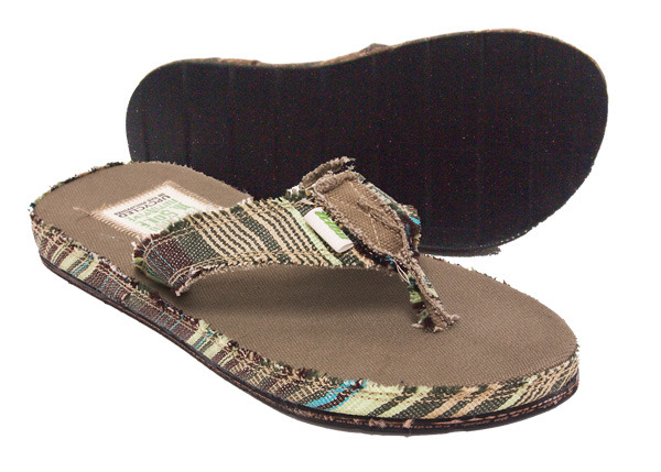 Tribu Upcycled Vegan Hemp Green available in mens US sizes 8, 9, 10, 11, 12