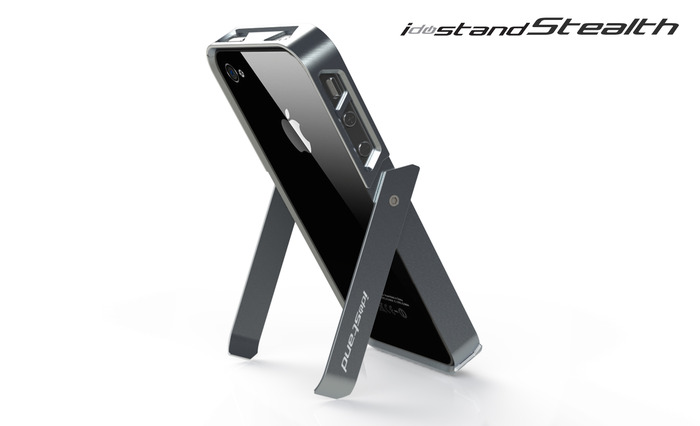 idoStand Stealth made in aircraft grade aluminum, also in anodized black and red