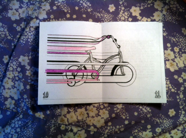 'Go Car-Free' centerfold art.