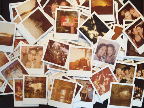 mountain of polaroid