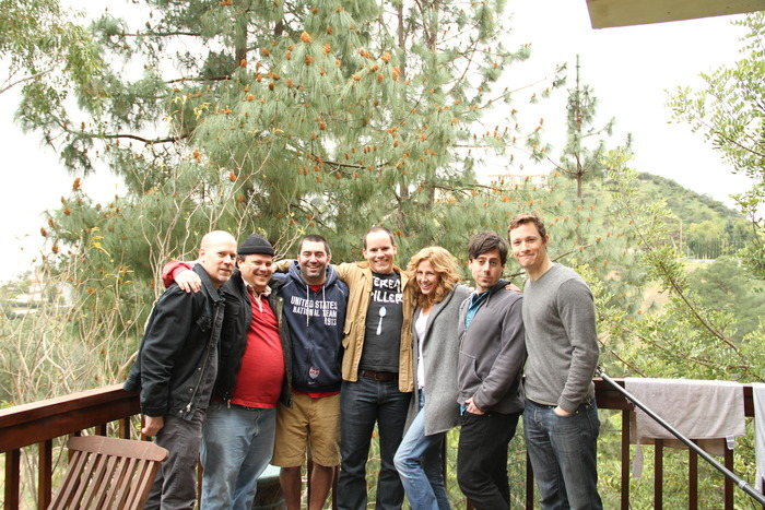 From Left, David Stieve, Britain Spellings, Scott Glosserman, Nathan Baesel, Bridgett Newton, Ben Pace, Hart Turner