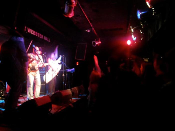 Playing to a packed crowd at The Studio @ Webster Hall, January 2012.