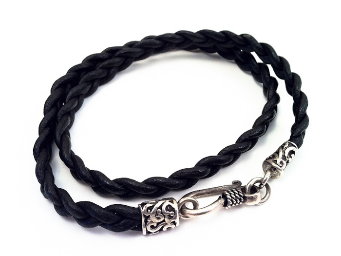 Limited edition sterling silver and leather bracelet created by Rustic Booty Designs. For backers of the $65 early bird special only.