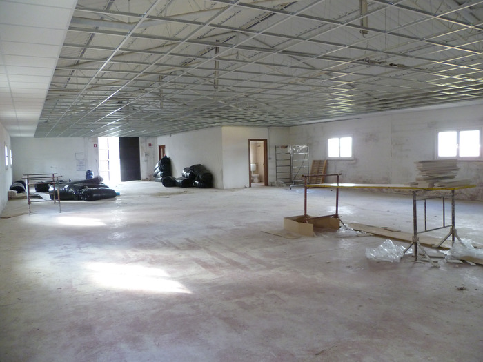 Interior before wall framing - Late June