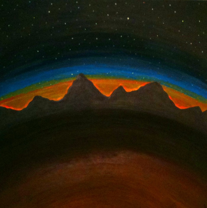 """Sonora Sunset"" oil on canvas 24""x 24"""
