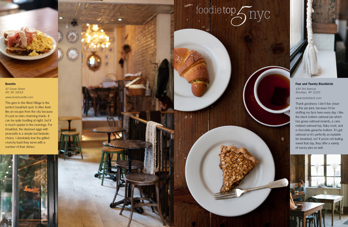 Foodie Top 5 New York City - Issue 2 Show Pony Magazine