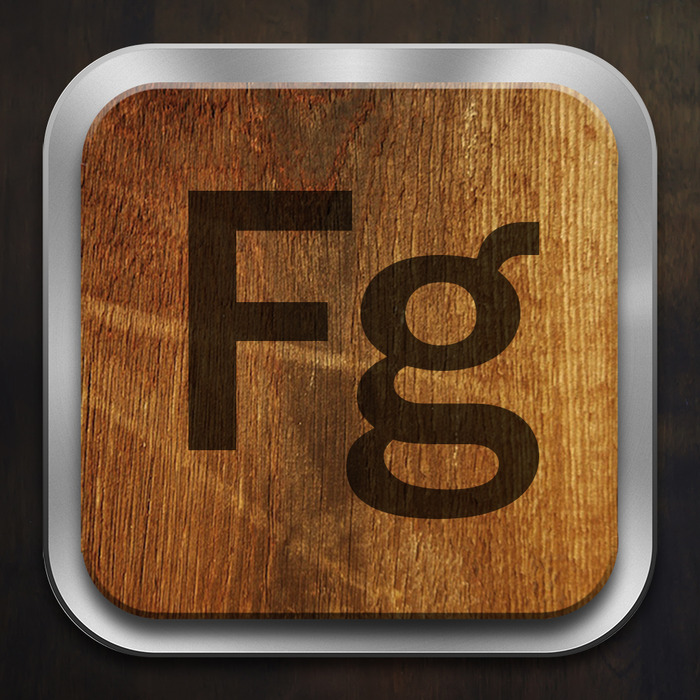 Example of typeface icon (Franklin Gothic)