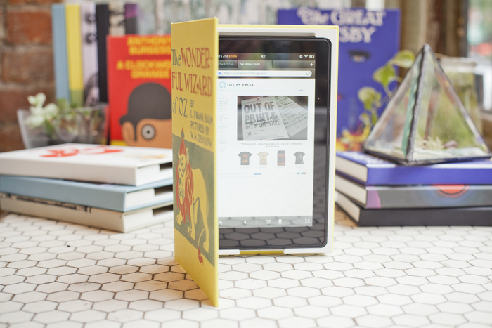 The Wizard of Oz with Kindle Fire on display at Duo NYC