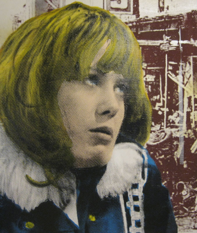 Wendy Richard (mixed media on wood)