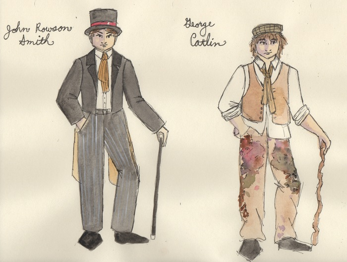 costume sketch © Isabelle Simone 2012