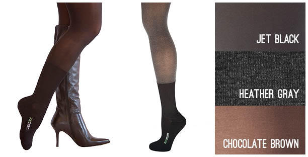 CORE | Mid Calf comes in Jet Black, Heather Gray, Chocolate Brown