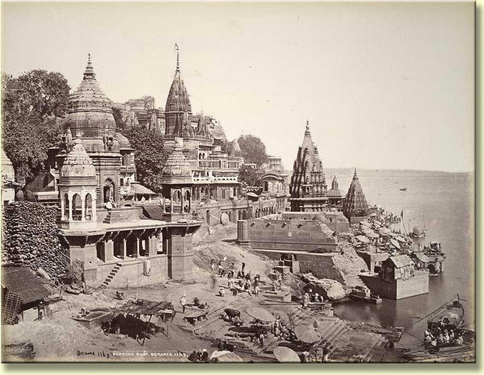 A 19th century image of Varanasi