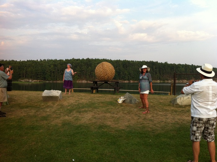 Multiple posings with the Hay Ball by the bay
