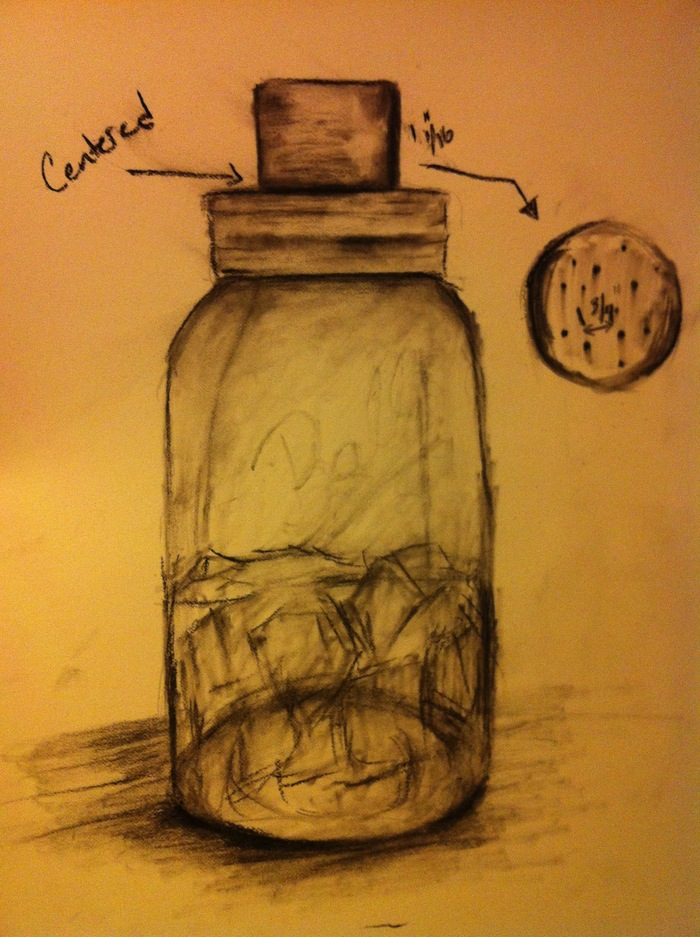 One of the Initial Sketches of the Mason Shaker
