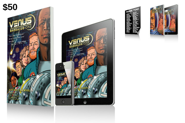 "$50 Reward: Print & Digital Editions of ""Venus: Daedalus One""!"