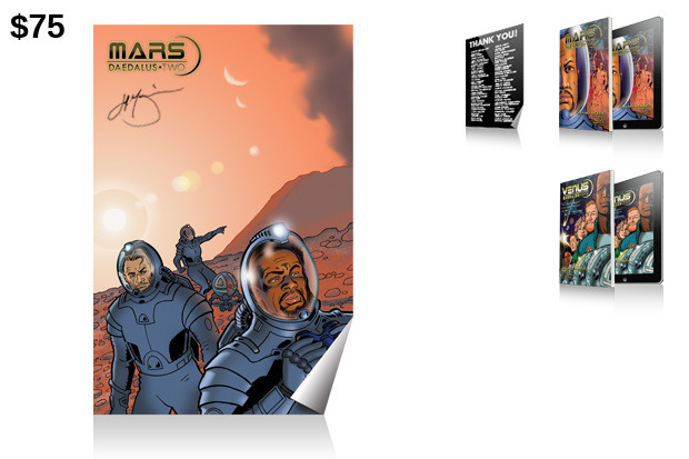 "$75 Reward: ""Mars: Daedalus Two"" 2' x 3' Poster!"