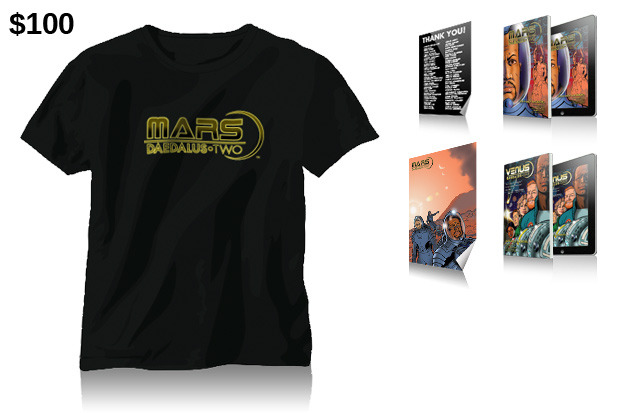 "$100 Reward: ""Mars: Daedalus Two"" T-Shirt!"