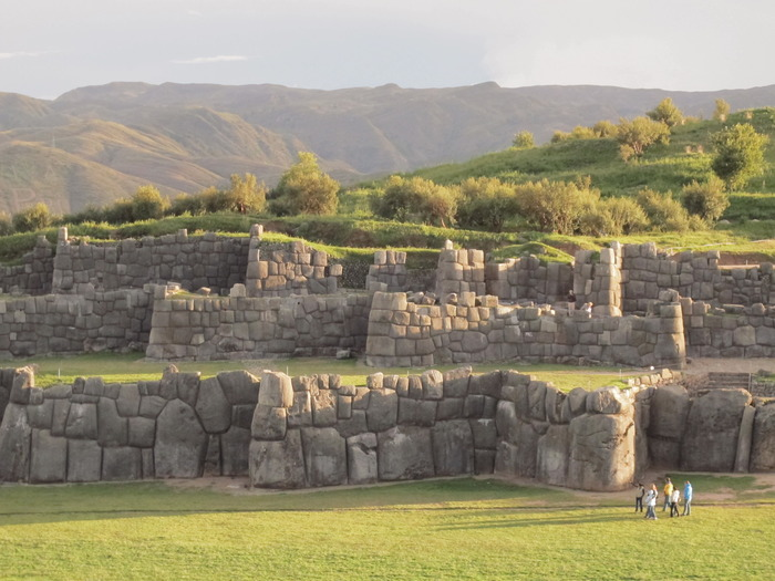 The main wall complex at Saqsaywaman has Cyclopean stones that weigh up to 360 tons.  Research continues to this day to determine how the Inca, without the wheel or metal tools, quarried, transported, fit and finished these monoliths.