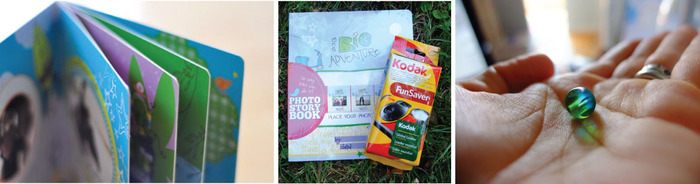sturdy, easy-to-handle pages; book + camera; summer-in-a-bead keepsake