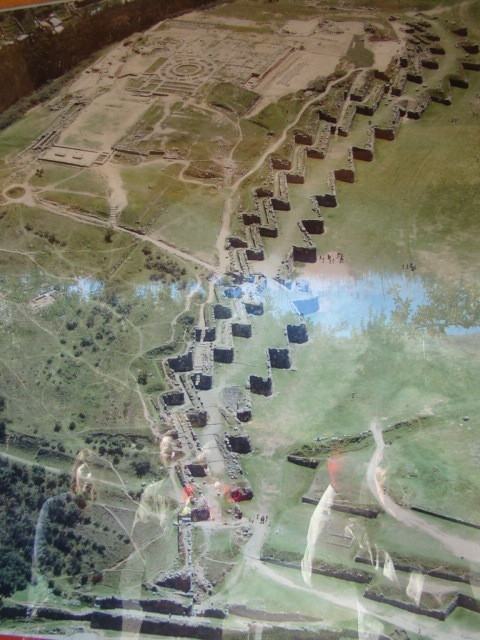 Aerial Shot of Saqsaywaman's Main Ruins