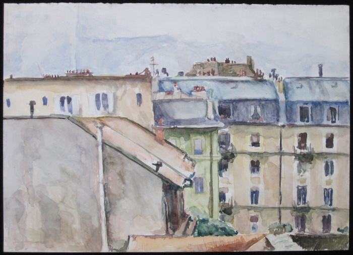 Geneve, 1992, watercolor