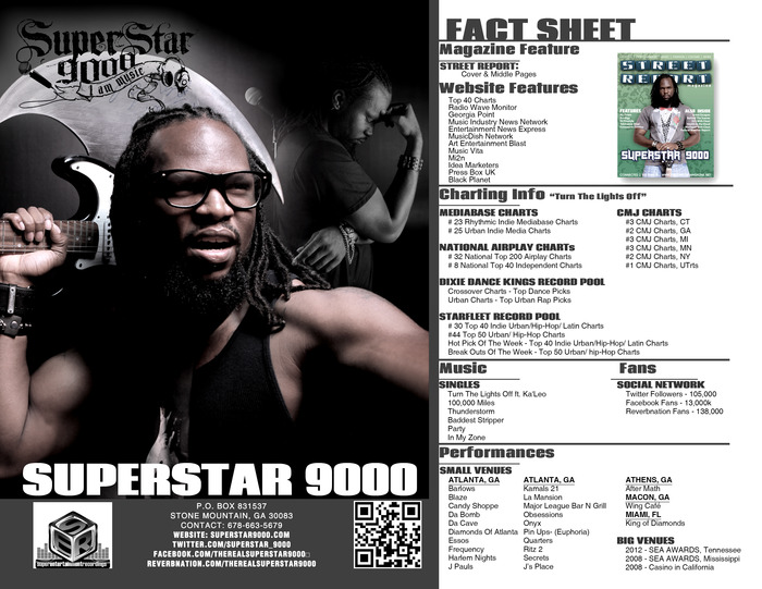 SUPERSTAR 9000 FACT SHEET