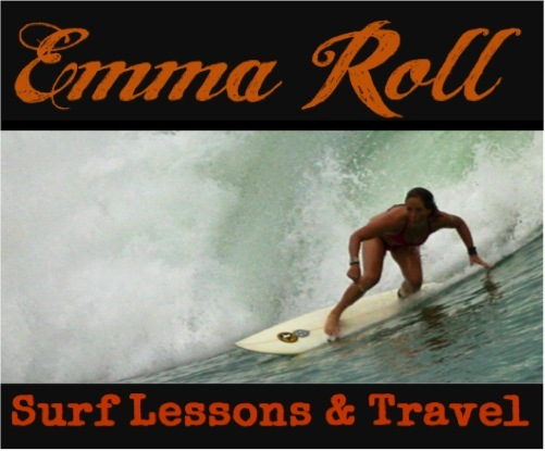 Emma Role, one of our crew members, is also a professional surf instructor.