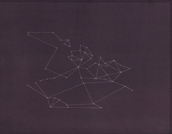 "Constellation 3, 8x10"", cameraless salt print"