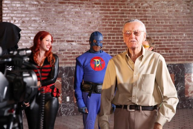 DangerMan on the set with the Great Stan Lee...WOW!!