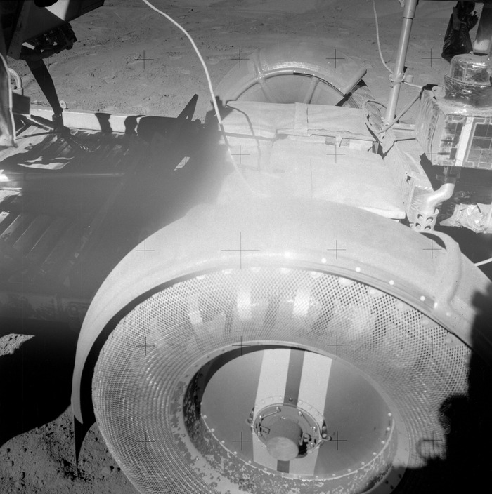 Challenges with lunar regolith, Apollo 15 LRV (image courtesy of NASA)