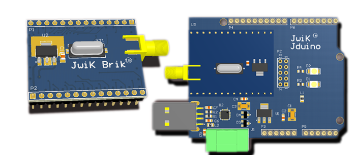 JwiK Brik™ Module and JwiK™ Jduino Carrier Board