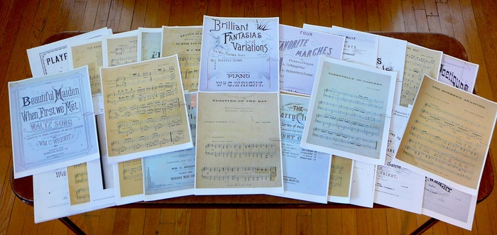 The music of William Carey Wright! Songs, piano pieces, organ pieces! Waltzes, polkas, variations, schottisches, and more! Check out the video for some sample sound bytes!