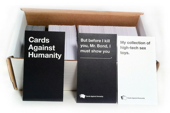 Early version of Cards Against Humanity boxed set, from Project Update #5