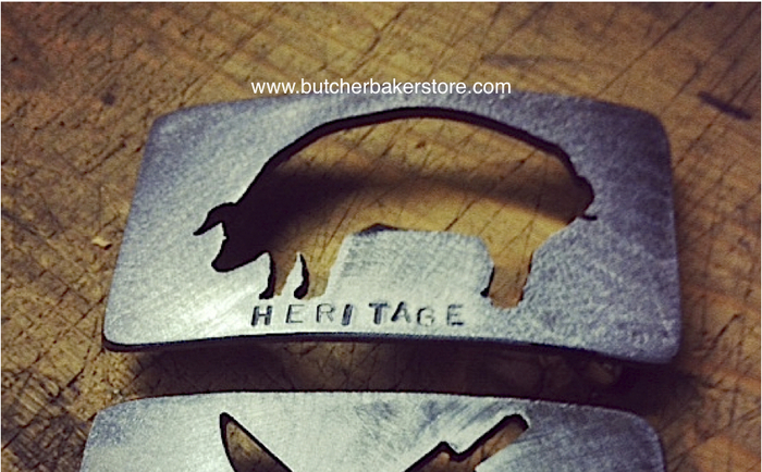 Hand-Forged Buckles Celebrating Heritage Breeds
